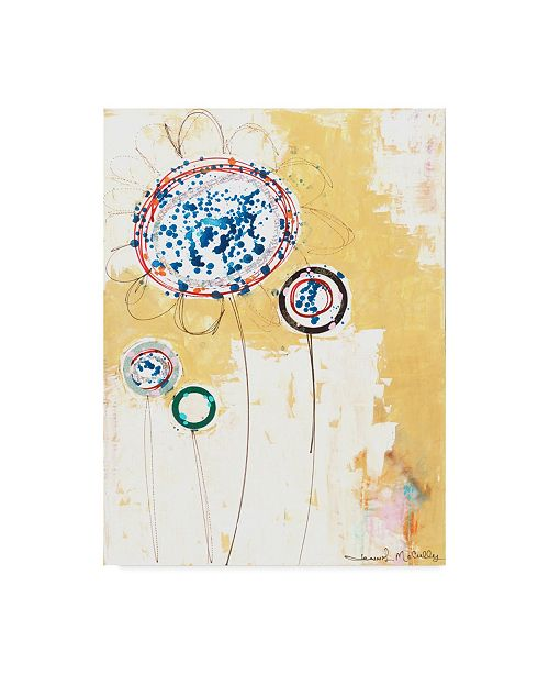 "Trademark Global Jennifer Mccully 'Squash Flowers' Canvas Art - 35"" x 47"""