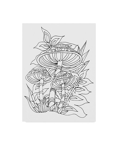 "Trademark Global Jessica Putnam 'Mushroom 4' Canvas Art - 35"" x 47"""