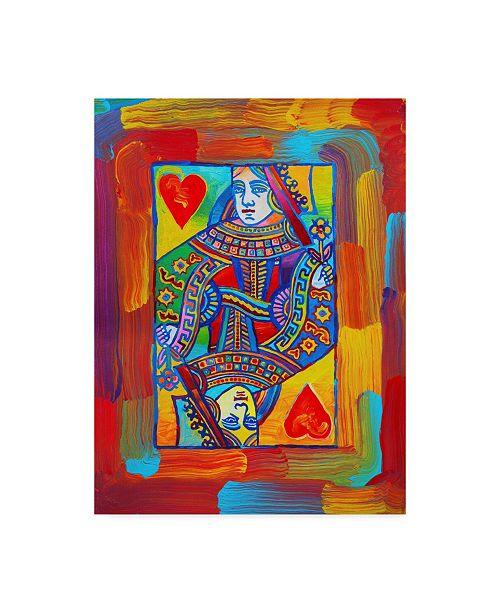 "Trademark Global Howie Green 'Queen Of Hearts Centered' Canvas Art - 35"" x 47"""