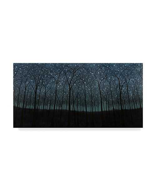 "Trademark Global James W. Johnson 'Starry Trees' Canvas Art - 47"" x 24"""