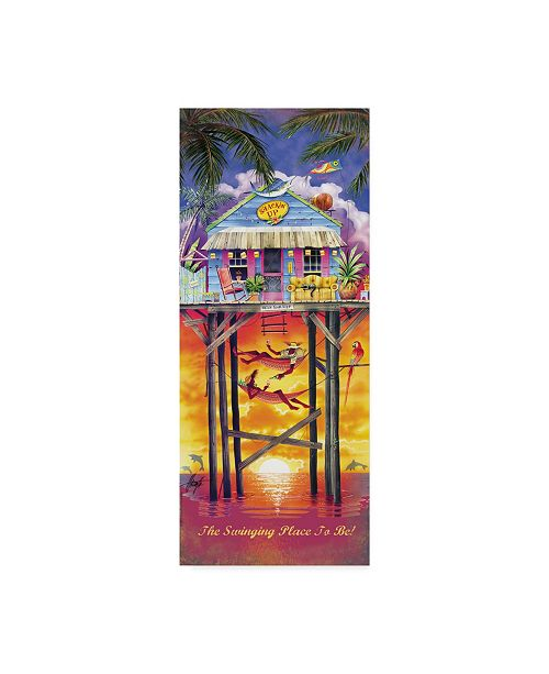 "Trademark Global James Mazzotta 'Shackin Up' Canvas Art - 8"" x 19"""