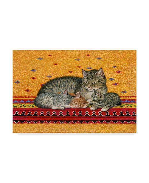"Trademark Global Janet Pidoux 'Mother And Kittens' Canvas Art - 32"" x 22"""
