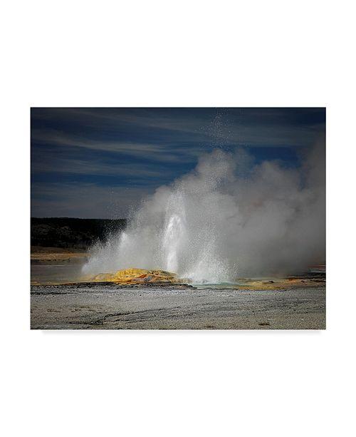 "Trademark Global J.D. Mcfarlan 'Geyser Yellowstone' Canvas Art - 47"" x 35"""
