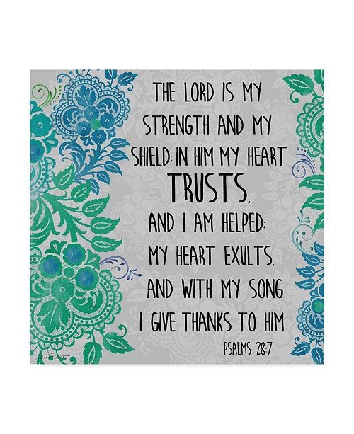 "Trademark Global Jean Plout 'Paisley Bible Verse 2' Canvas Art - 35"" x 35"""