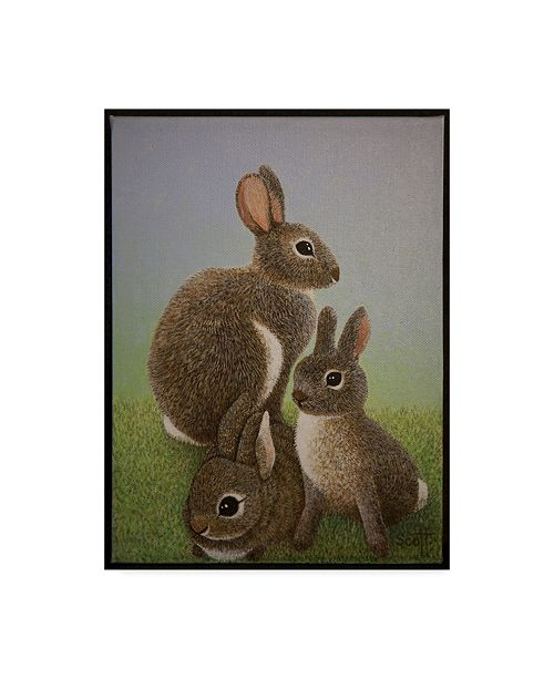 "Trademark Global Pat Scott 'Rabbit Family, 2016' Canvas Art - 24"" x 32"""