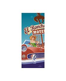 """Larry Hunter 'El Rancho' Canvas Art - 8"""" x 19"""""""