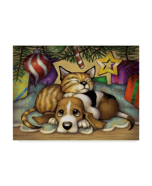 "Trademark Global Margaret Wilson 'Kitten Pup' Canvas Art - 32"" x 24"""