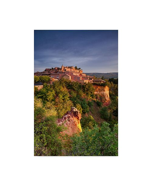 "Trademark Global Michael Blanchette Photography 'Sunrise Over Roussillon Vertical' Canvas Art - 30"" x 47"""