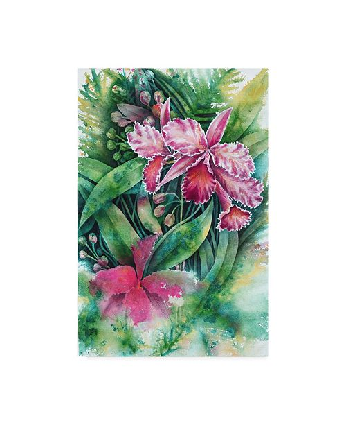 """Trademark Global Michelle Faber 'Pink Orchid' Canvas Art - 30"""" x 47"""""""