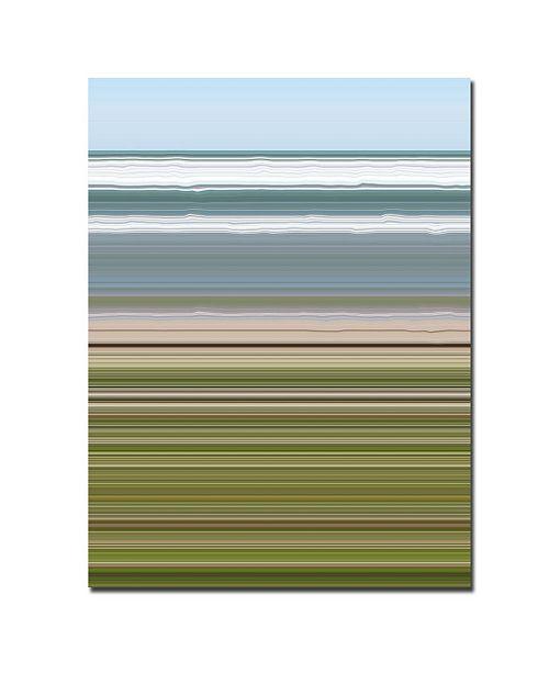 """Trademark Global Michelle Calkins 'Sky Water Beach Grass' Canvas Art - 24"""" x 18"""""""