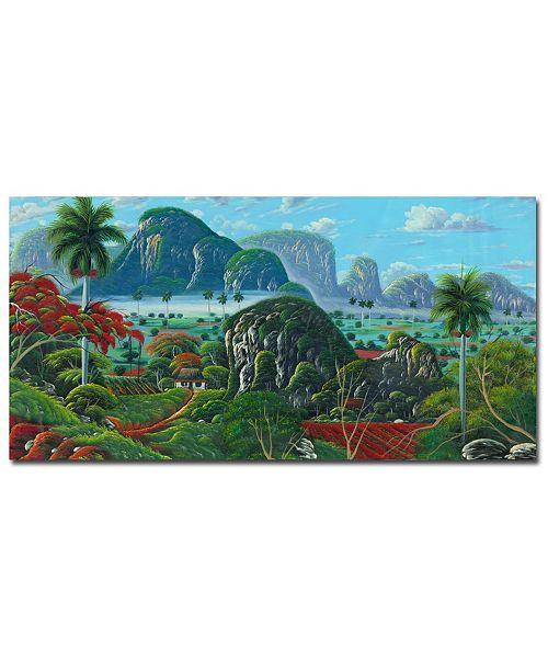 "Trademark Global Douglas 'Paisaje de Ensueno' Canvas Art - 32"" x 16"""