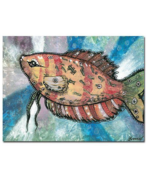 "Trademark Global Yonel 'Pascado Rojo' Canvas Art - 32"" x 24"""