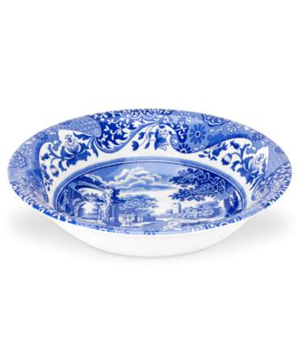 Dinnerware, Blue Italian Ascot Cereal Bowl