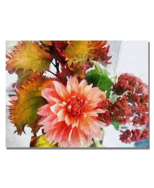 """Trademark Global Michelle Calkins 'Autumn Joy' Canvas Art - 47"""" x 35"""""""
