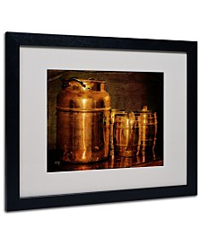 """Lois Bryan 'Copper Jugs' Matted Framed Art - 20"""" x 16"""""""