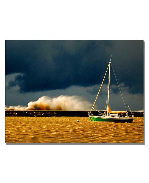 "Trademark Global Nicole Dietz 'Lake Erie Storm' Canvas Art - 24"" x 18"""