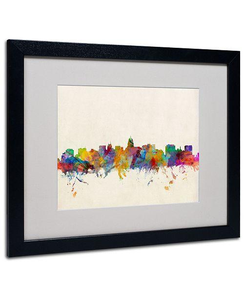 """Trademark Global Michael Tompsett 'Madison Skyline' Matted Framed Art - 20"""" x 16"""""""