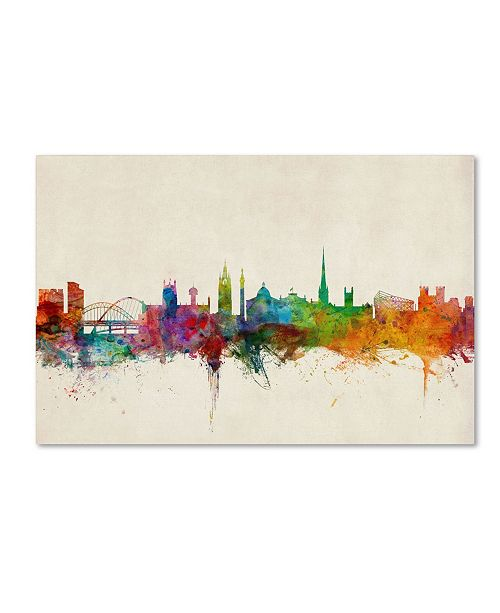 "Trademark Global Michael Tompsett 'Newcastle England Skyline' Canvas Art - 32"" x 22"""