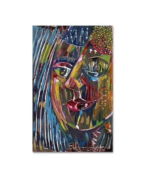 "Trademark Global Echemerdia 'Blues' Canvas Art - 24"" x 16"""