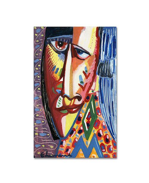 "Trademark Global Echemerdia 'Moonface' Canvas Art - 47"" x 30"""