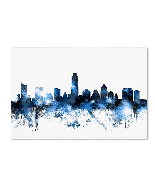 "Trademark Global Michael Tompsett 'Austin Texas Skyline II' Canvas Art - 22"" x 32"""