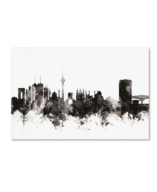 "Trademark Global Michael Tompsett 'Tehran Iran Skyline I' Canvas Art - 12"" x 19"""