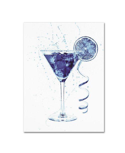 "Trademark Global Michael Tompsett 'Cocktail Drinks Glass Watercolor IV' Canvas Art - 14"" x 19"""