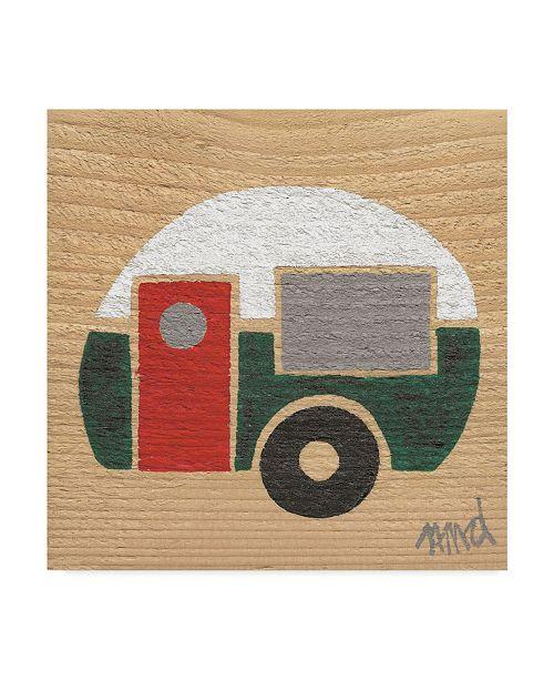 "Trademark Global Nicole Dietz 'White Green Camp' Canvas Art - 14"" x 14"""