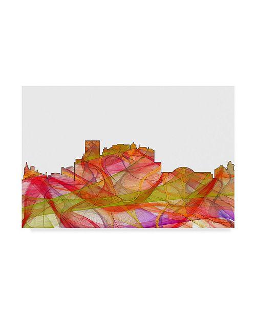 "Trademark Global Marlene Watson 'El Paso Texas Skyline' Canvas Art - 12"" x 19"""