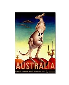 "Vintage Apple Collection 'Australia Kanga' Canvas Art - 12"" x 19"""