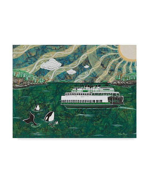 "Trademark Global Jake Hose 'Ferry In The San Juans' Canvas Art - 14"" x 19"""