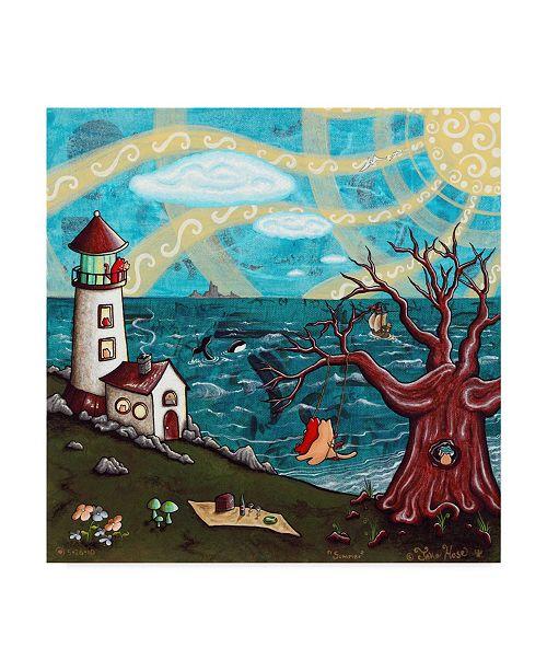 "Trademark Global Jake Hose 'Summer' Canvas Art - 14"" x 14"""
