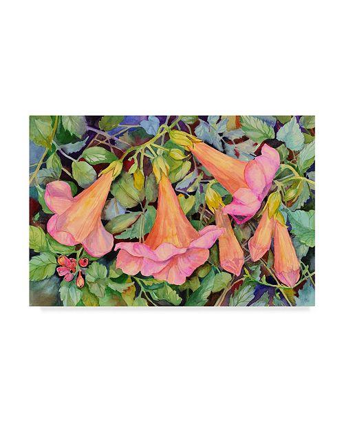 "Trademark Global Joanne Porter 'Trumpet Vine' Canvas Art - 12"" x 19"""