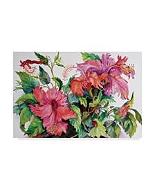 "Joanne Porter 'Hibiscus' Canvas Art - 12"" x 19"""