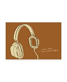 "John W. Golden 'Lunastrella Headphones' Canvas Art - 12"" x 19"""
