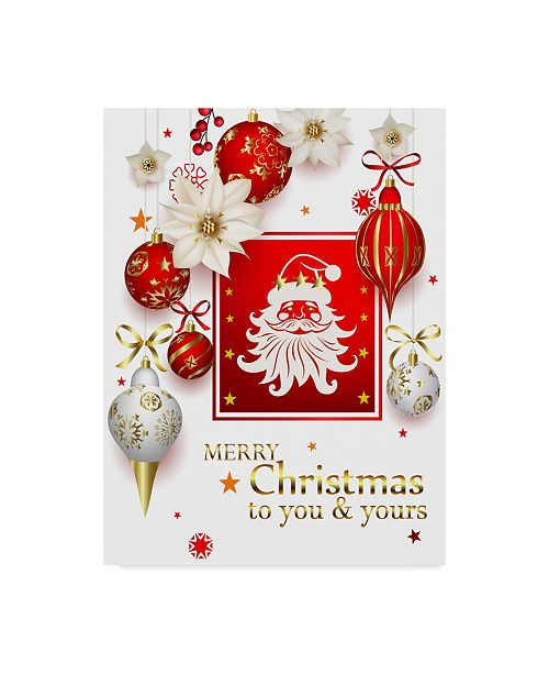 "Trademark Global Maria Rytova 'Christmas Bright Composition 1' Canvas Art - 14"" x 19"""