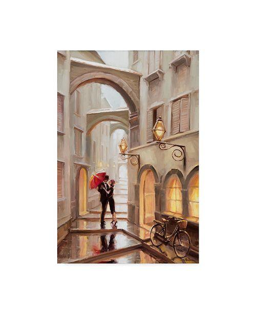 "Trademark Global Steve Henderson 'Red Umbrella' Canvas Art - 12"" x 19"""
