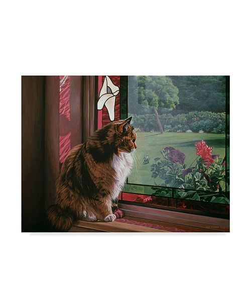 "Trademark Global Ron Parker 'Garden View' Canvas Art - 14"" x 19"""
