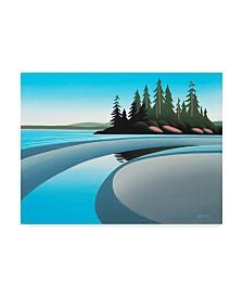 """Ron Parker 'Low Tide Pool' Canvas Art - 14"""" x 19"""""""