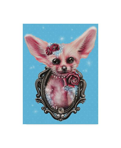 "Trademark Global Sheena Pike Art And Illustration 'Fennec Fox' Canvas Art - 14"" x 19"""