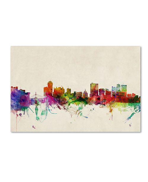 "Trademark Global Michael Tompsett 'Winnipeg, Canada' Canvas Art - 12"" x 19"""