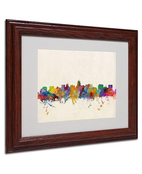 """Trademark Global Michael Tompsett 'Madison Skyline' Matted Framed Art - 14"""" x 11"""""""