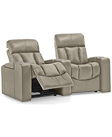 Stratsford Leather 2-Pc. Theatre Sectional Sofa with Wedge