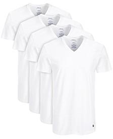 Men's 3 +1 Bonus Pk. Cotton V-Neck T-Shirts