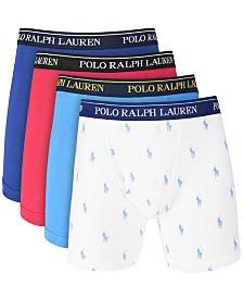 Polo Ralph Lauren Men's 4-Pk. Cotton Boxer Briefs