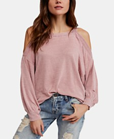 Free People Chill Out Cold-Shoulder Top