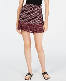 Michael Michael Kors Printed Mini Skirt, Regular & Petite