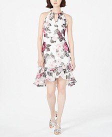 Printed Chiffon Halter Dress