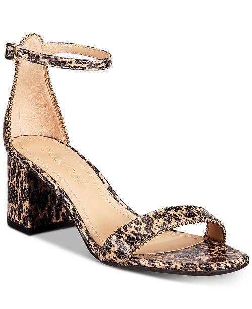 COACH Women's Maddie Dress Sandals