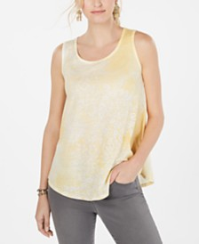 Style & Co Petite Graphic-Print Tank Top, Created for Macy's